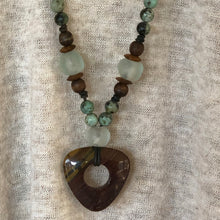 African Turquoise Iron Jasper Pendant Necklace
