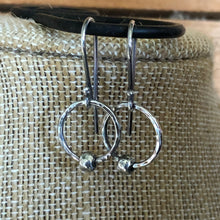 Hammered Sterling Circle Earrings
