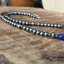 Navajo Pearl Lapis Necklace