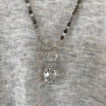 Sterling Bezel Crystal Necklace