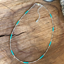 Kingman Turquoise Hill Tribe Fine Silver Necklace