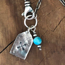 Stamped Arrow Mini Dog Tag Necklace