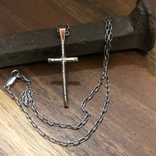 Copper and Sterling Cross Necklace