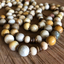 Hand Knotted Fossil Coral Necklace