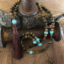 Matte Tiger Eye Mala Necklace