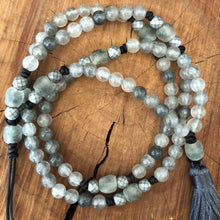 Cloudy Quartz Mala Necklace