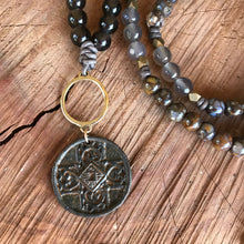 Round Tribal Cross Necklace
