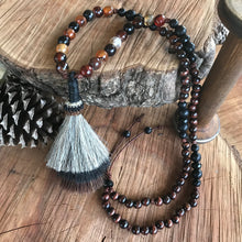 Tri-color Horsehair Tassel Necklace