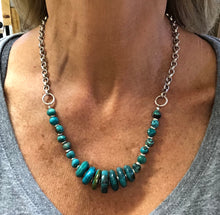 Turquoise and Silver Toggle Necklace