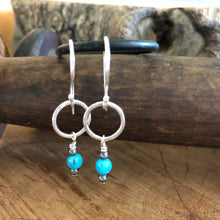 Kingman Turquoise Navajo Pearl Dangle Earrings