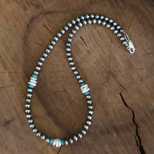 Navajo Pearl Turquoise and Keshi Pearl Necklace