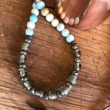 Matte Amazonite Java Glass Necklace