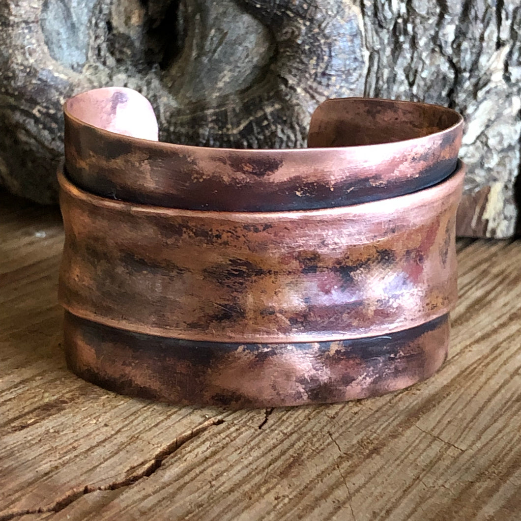 Folded Copper Cuff
