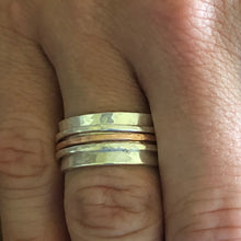 Sterling and Copper Spinner Ring