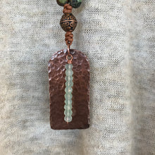 Hammered Copper Dog Tag Necklace