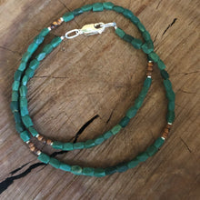Malachite Olive Wood Necklace