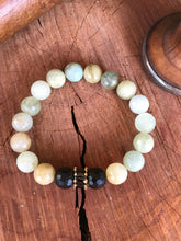 Natural Aquamarine and Black Onyx Yoga Bracelet