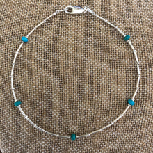 Hill Tribe Fine Silver Turquoise Anklet