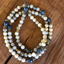 Bamboo Leaf Agate Layering Necklace