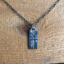 Oxidized Sterling Cross Pendant Necklace