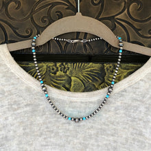 Navajo Pearl and Kingman Turquoise Necklace