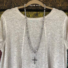 Mai Jasper Twisted Cross Necklace
