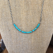 Sterling Turquoise Navajo Pearl Bar Necklace