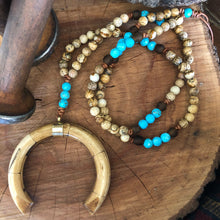 Crescent Horn Picture Jasper Necklace