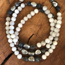 Phoenix Agate Aluminum Nugget Necklace