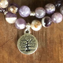 Sage Amethyst Tree Of Life Double Stackable Bracelet
