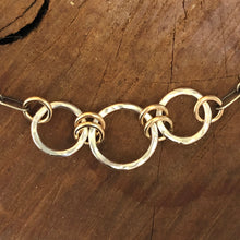 Mixed Metals Circle Necklace