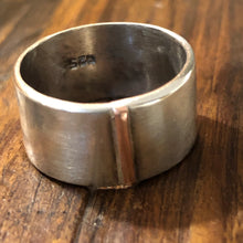 Oxidized Sterling Copper Bar Ring