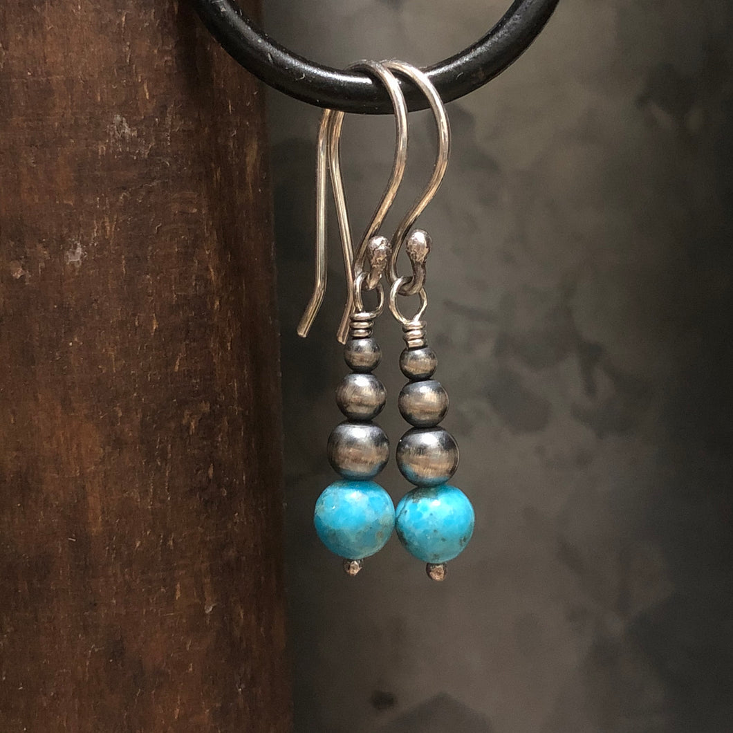 Navajo Pearl Kingman Turquoise Earrings
