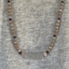 Rose Quartz African Glass Necklace