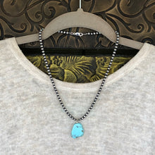 Navajo Pearl Kingman Turquoise Slab Necklace