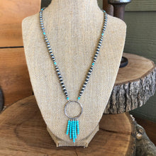 Navajo Pearl Turquoise Fringe Necklace