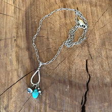 Turquoise and Navajo Pearl Charm Necklace