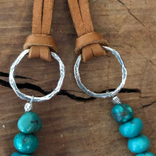 Genuine Turquoise Quartz Crystal Necklace