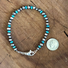 Navajo Pearl and Genuine Turquoise Bracelet