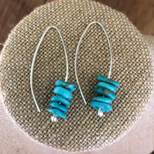 Stacked Kingman Turquoise Earrings