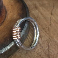 Copper Wrapped Sterling Silver Ring