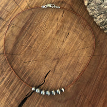 Navajo Pearl and Leather Choker