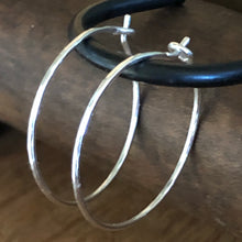 Hammered Sterling Silver Hoop Earrings