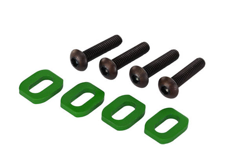 TRA7759G  Washers Motor Mount Alum GREEN-Anodized (4)