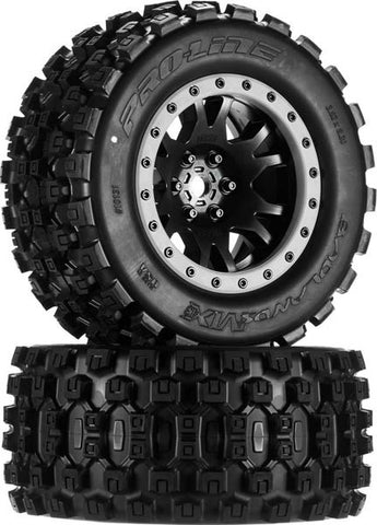 pro1013113 Badlands MX43 Pro-loc All Terrain Tires Mounted (2) X-Maxx