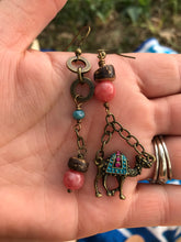 Camel Mismatched Earrings