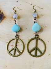 Amazonite Peace Earrings