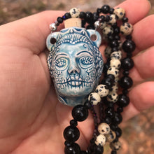 Sugar Skull Bottle Necklace
