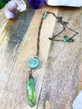 Green Apple Aura & Lotus Necklace