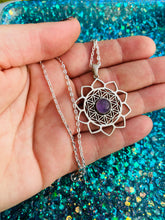 Flower of Life Amethyst Necklace